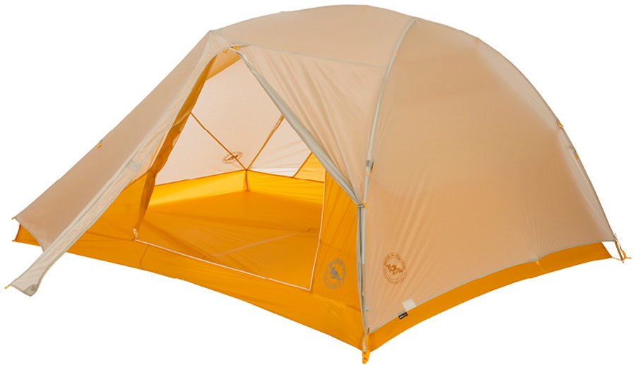 Big Agnes Tiger Wall 3 UL Ultralight Backpacking Tent, 3 Man Grey/Gold