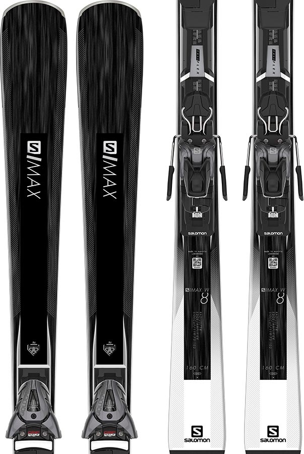 newest collection new concept brand new Salomon Womens S/Max W8 L10 GW Women's Skis, 160cm White/Black 2020