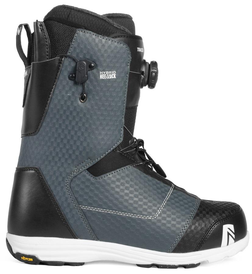 Nidecker Tracer Heel-Lock Coiler Snowboard Boots, UK 7 Slate 2019