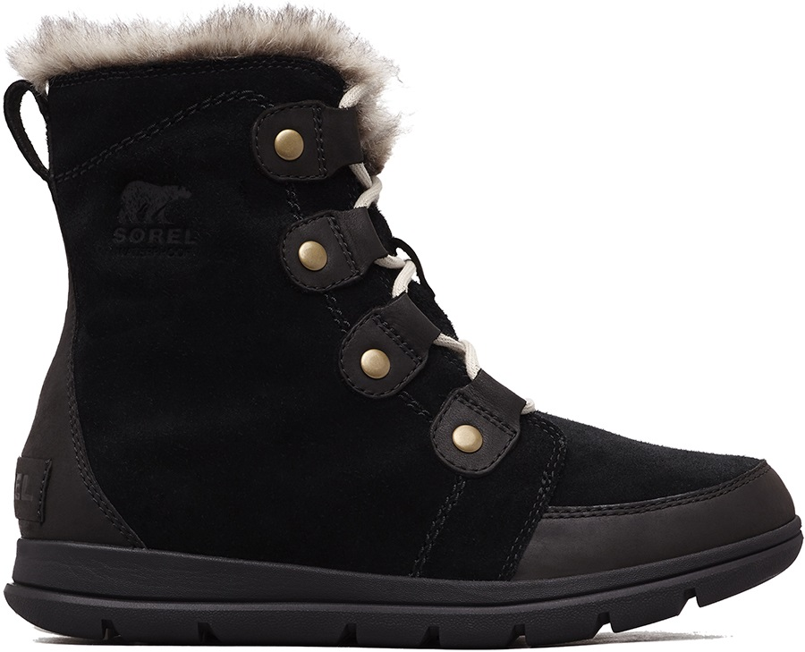 Sorel Explorer Joan Women's Winter Boots, UK 4.5 Black/Dark Stone