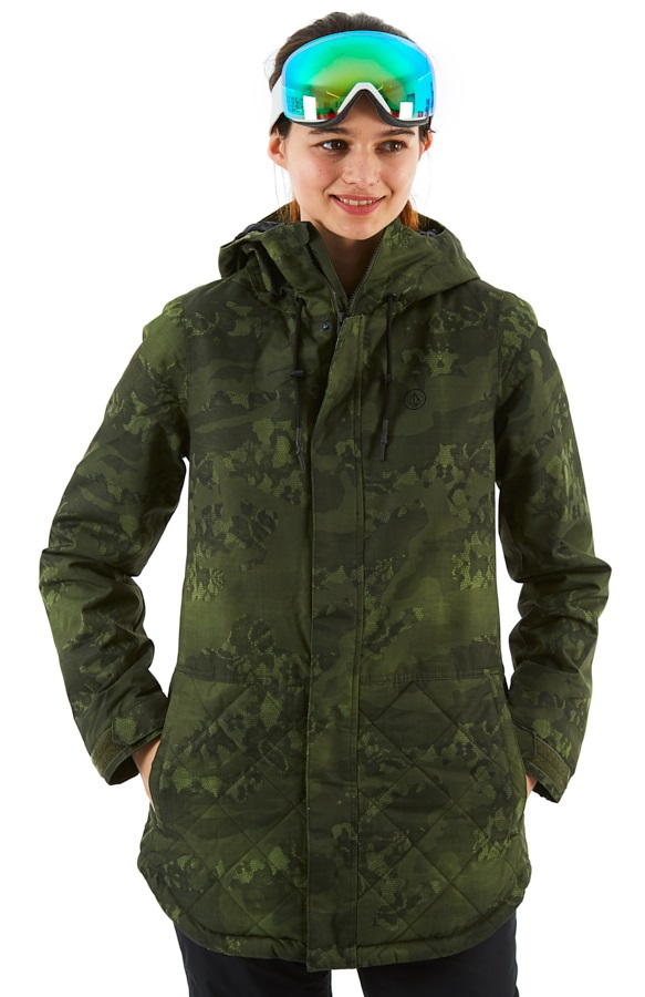 bd5a491fd Volcom Winrose Insulated Women's Ski/Snowboard Jacket, S Camouflage