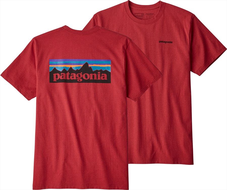 Patagonia P-6 Logo Responsibili-tee T-Shirt, Small Fire