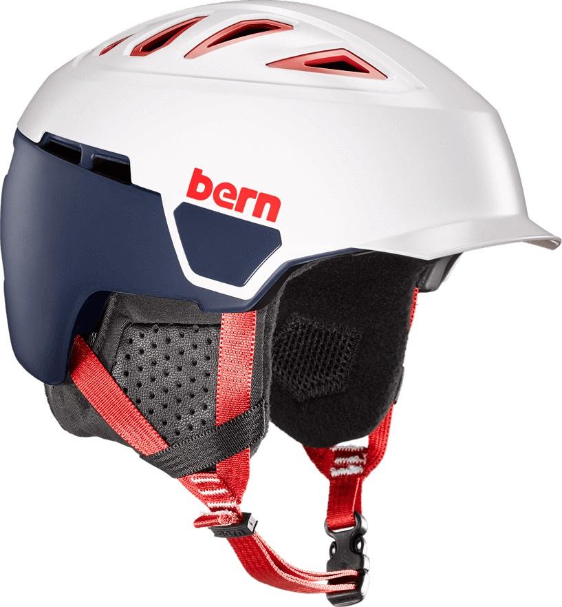 Bern Heist Brim Winter Snowboard Helmet, S Patriot