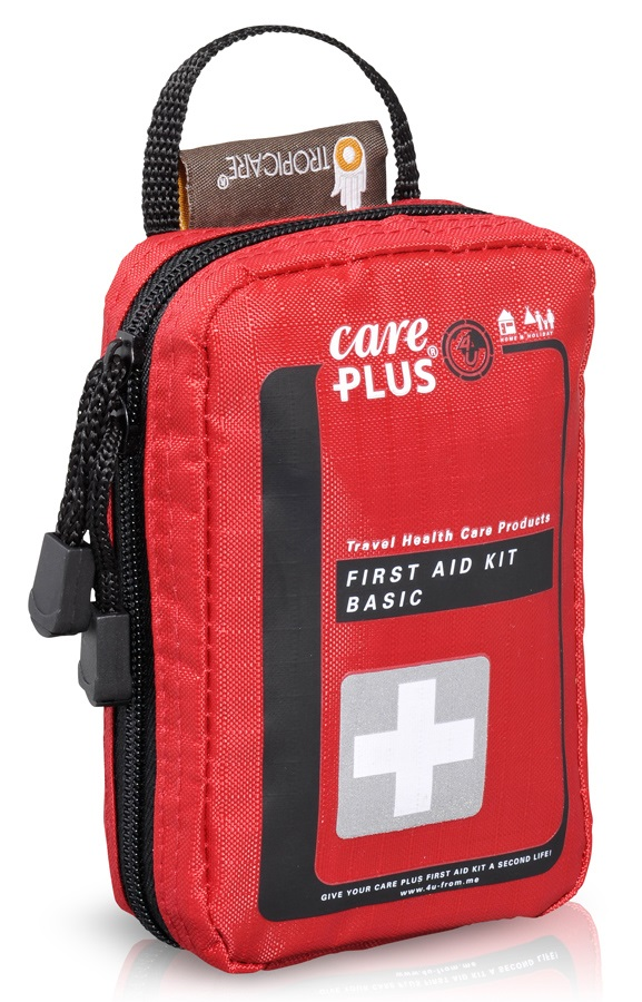 Care Plus Basic Compact Travel First Aid Kit, 30 Pcs Red