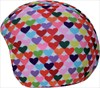 Coolcasc Printed Cool Ski/Snowboard Helmet Cover, Colour Hearts