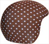 Coolcasc Printed Cool Ski/Snowboard Helmet Cover, Brown/Blue Dots